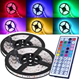 16.4FT SMD E-Universal 5050 Waterproof 300LEDs RGB Flexible LED Strip Light Lamp Kit + 44Key IR Remote Controller(Power Supply is not Included)