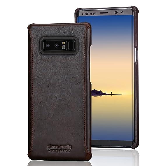wholesale dealer 3838b b643e Amazon.com: Galaxy Note 8 Leather case Pierre Cardin Genuine Cowhide ...