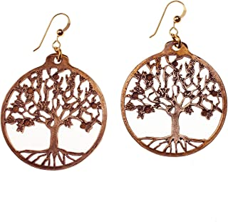 product image for Tree of Life Peace Bronze Earrings on French Hooks