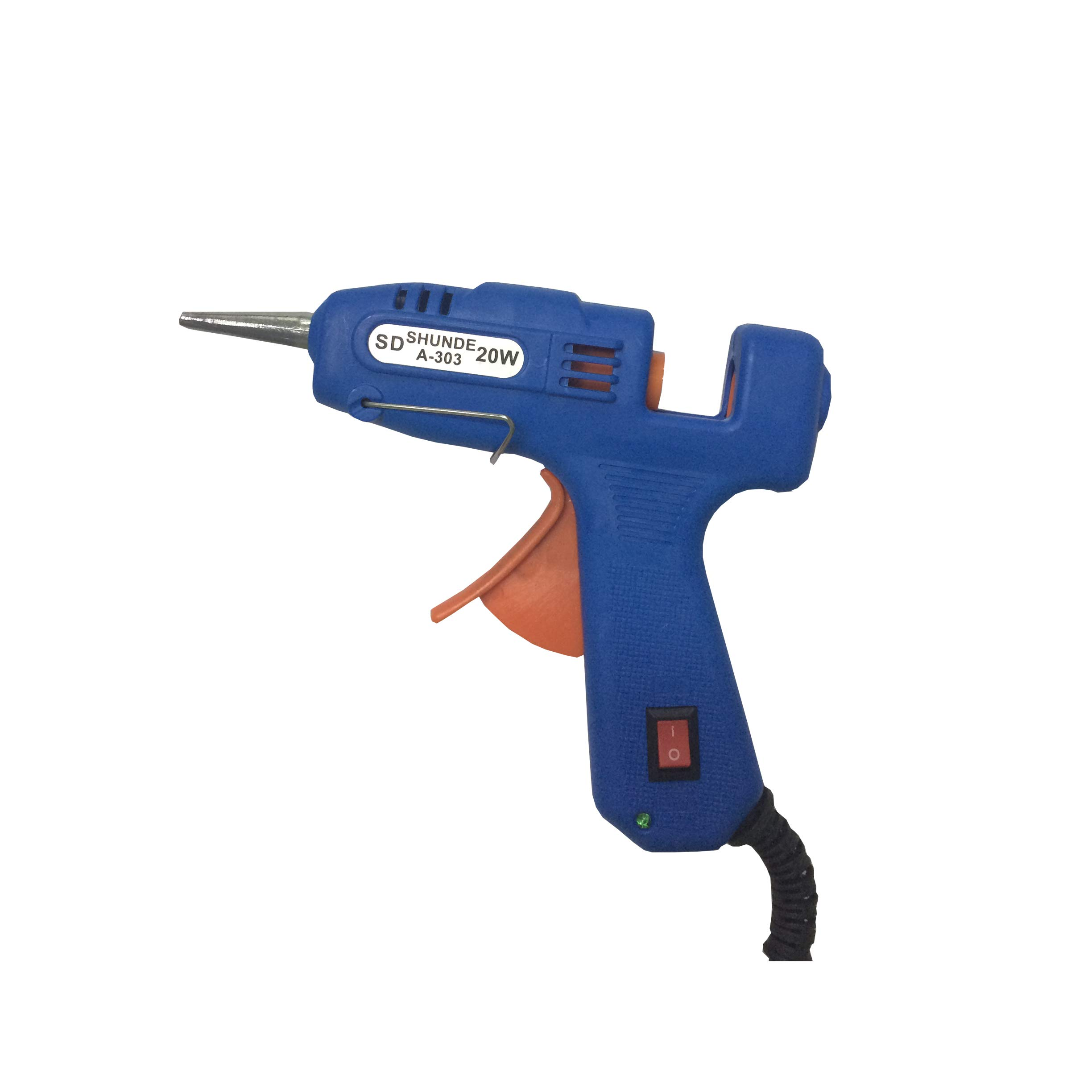 Hot Melt Glue Gun with LED Indicator for DIY Arts Crafts Projects and Small Repair Jobs 20 Watt AC110-240V Blue