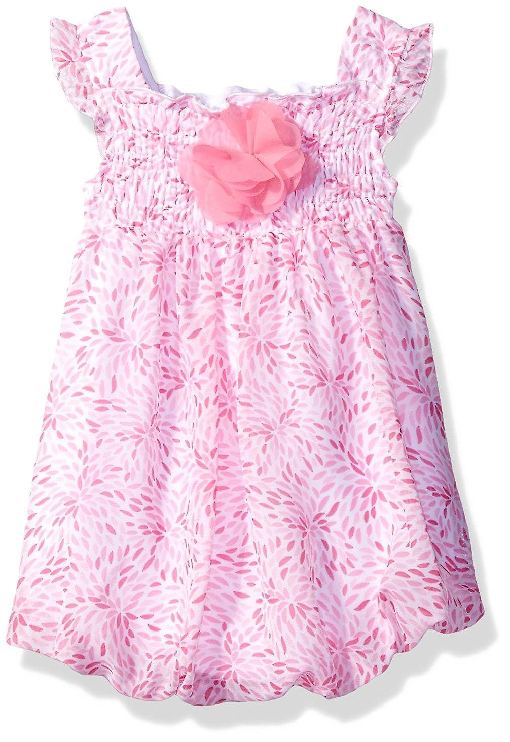 Bon Bebe DRESS ベビーガールズ 0 - 3 Months Pretty Pink Flower B01MXLU1XZ