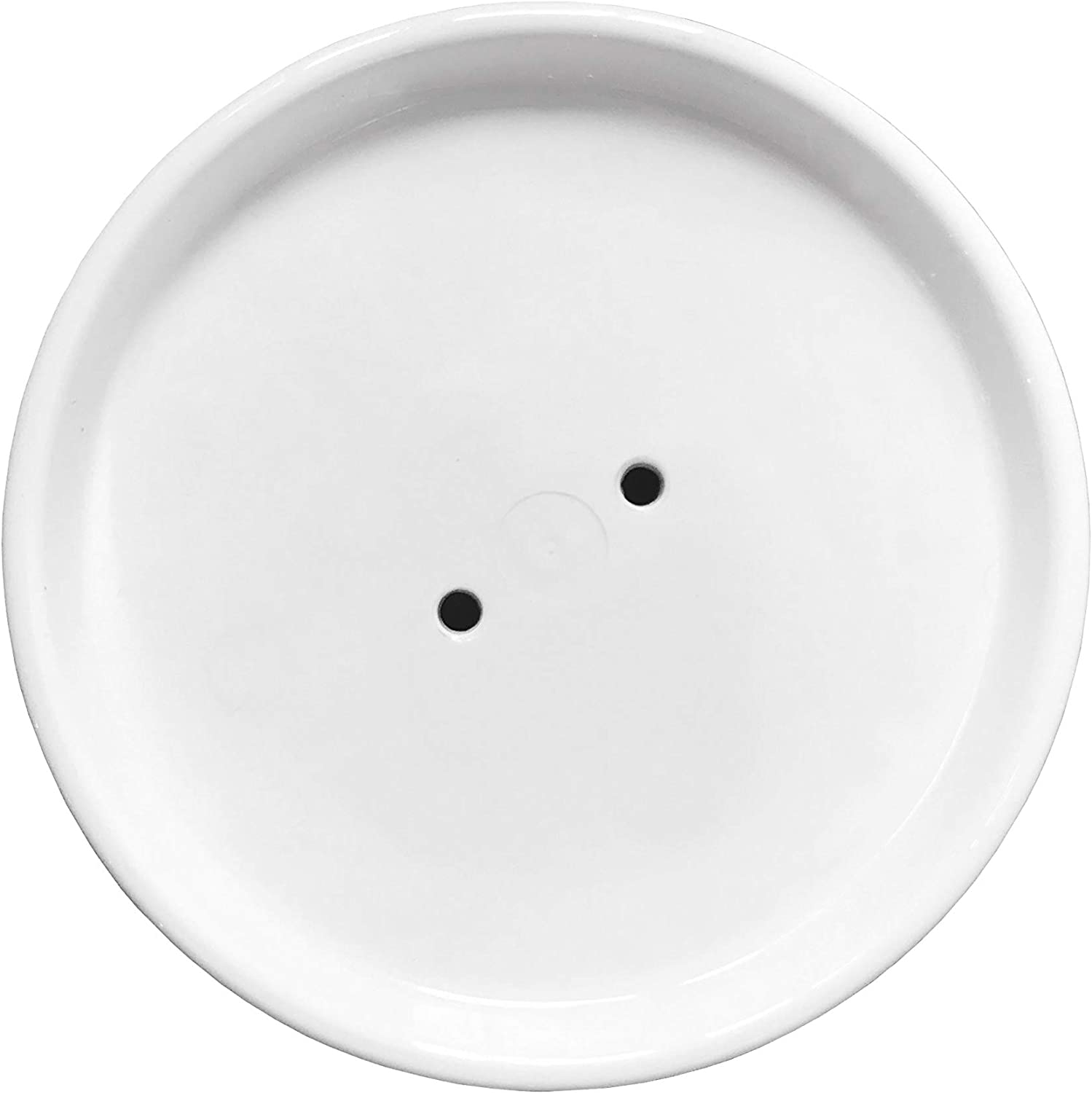 BFA Pot Trays Plastic Round-Shape Flower Plant Pot Trays Saucers with Water Receiver 7.6 inches Inner Diameter