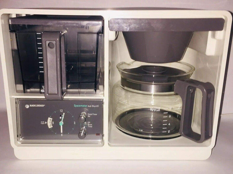 Vintage Black & Decker SDC2AG Spacemaker 10-Cup Coffee Maker