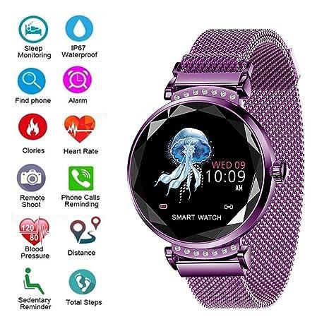 HUWAI-F Reloj Inteligente Smartwatch con Pulsómetro Pulsera ...