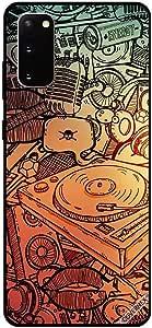 حافظة سامسونج S20 بنمط بطاقات موسيقية