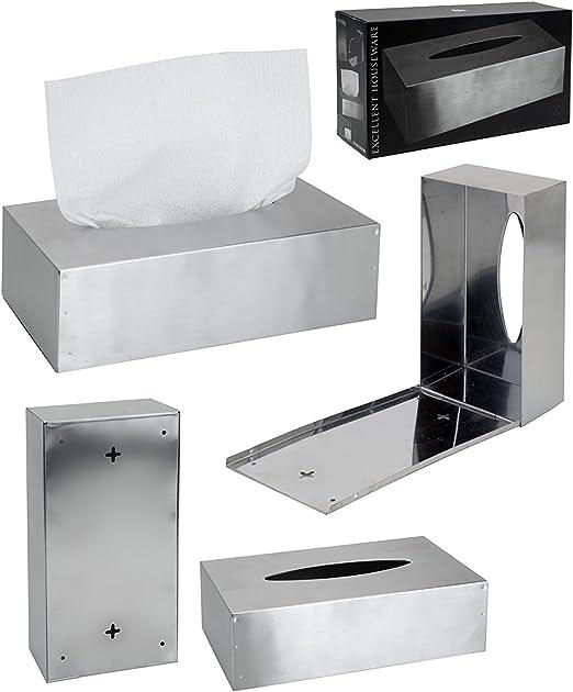 Relaxdays - Caja de pañuelos de papel (acero): Amazon.es: Hogar