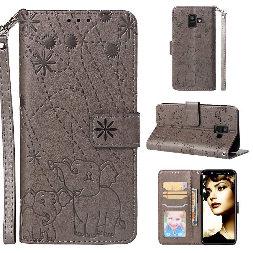 Klapph/ülle Leder Flip Case Schutzh/ülle Tasche Cover mit St/änder Magnet Kartenfach f/ür Samsung Galaxy A6//A600FN NEYBO470086 Blau NEXCURIO H/ülle Galaxy A6 2018