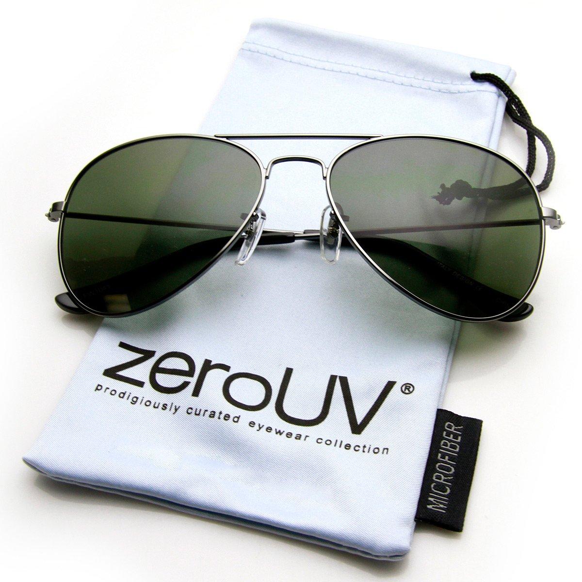 3594d6d22 Amazon.com: Original Classic Metal Standard Aviator Sunglasses - Nickel  Plated Frame (3-Pack (Gold/Silver/Gunmetal)): Clothing