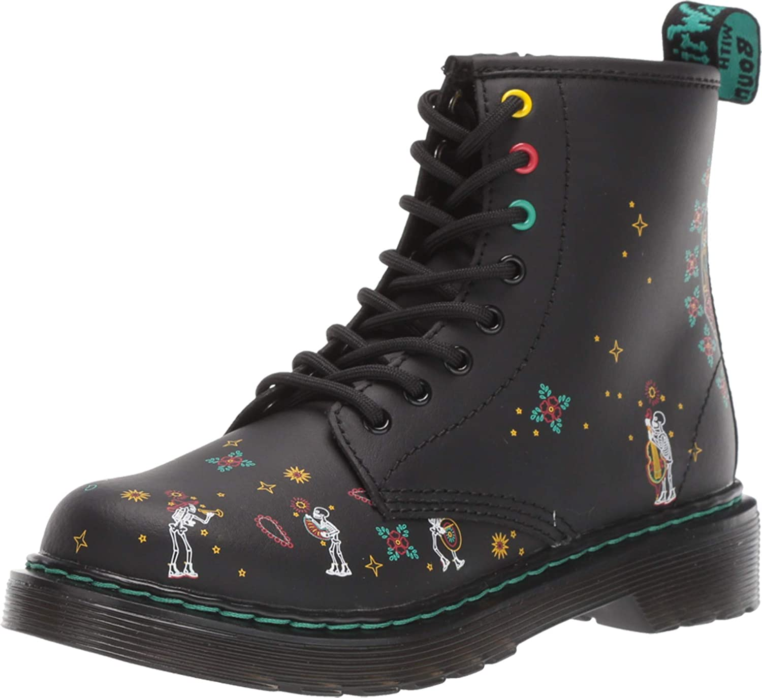 Mourn Nomina Tutti e due  Buy Dr. Martens Kid's Collection 1460 Skull (Little Kid/Big Kid) Multi Day  of The Dead Hydro Leather 1 UK (US 2 Little Kid) at Amazon.in