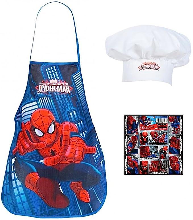 2 tlg. - SPIDER-MAN - Küchen / Koch Set - mit Kochschürze + Koch ...