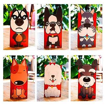 amazon misright 6個犬新しい年レッド封筒to fill in money中国伝統
