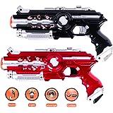 Aomeiqi 2 Pistolas infrarrojas, Pistola infrarroja Juguete para Juegos de tiros Actividades al Aire Libre e Interior Juegos de Guerra para niños y Adultos. (2 Piezas)