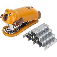 Deli Mini Cute Bear Desktop Stapler, Office Stapler, 12 Sheet Capacity, Includes Built-in Staple Remover & 1000PCS No.10…