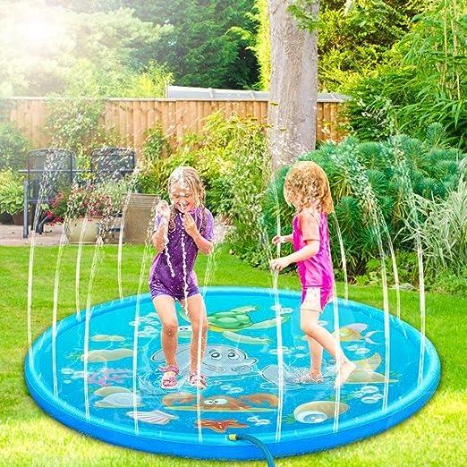 NHK-MX PVC Splash Pad para Niños Jardín de Verano Juguete de 170 cm Aspersor de Juego de Verano: Amazon.es: Hogar