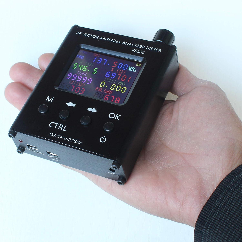 Analizador de antena PS100 UV RF Vector Impedance ANT SWR, probador de medidor de 140 MHz N1201SA