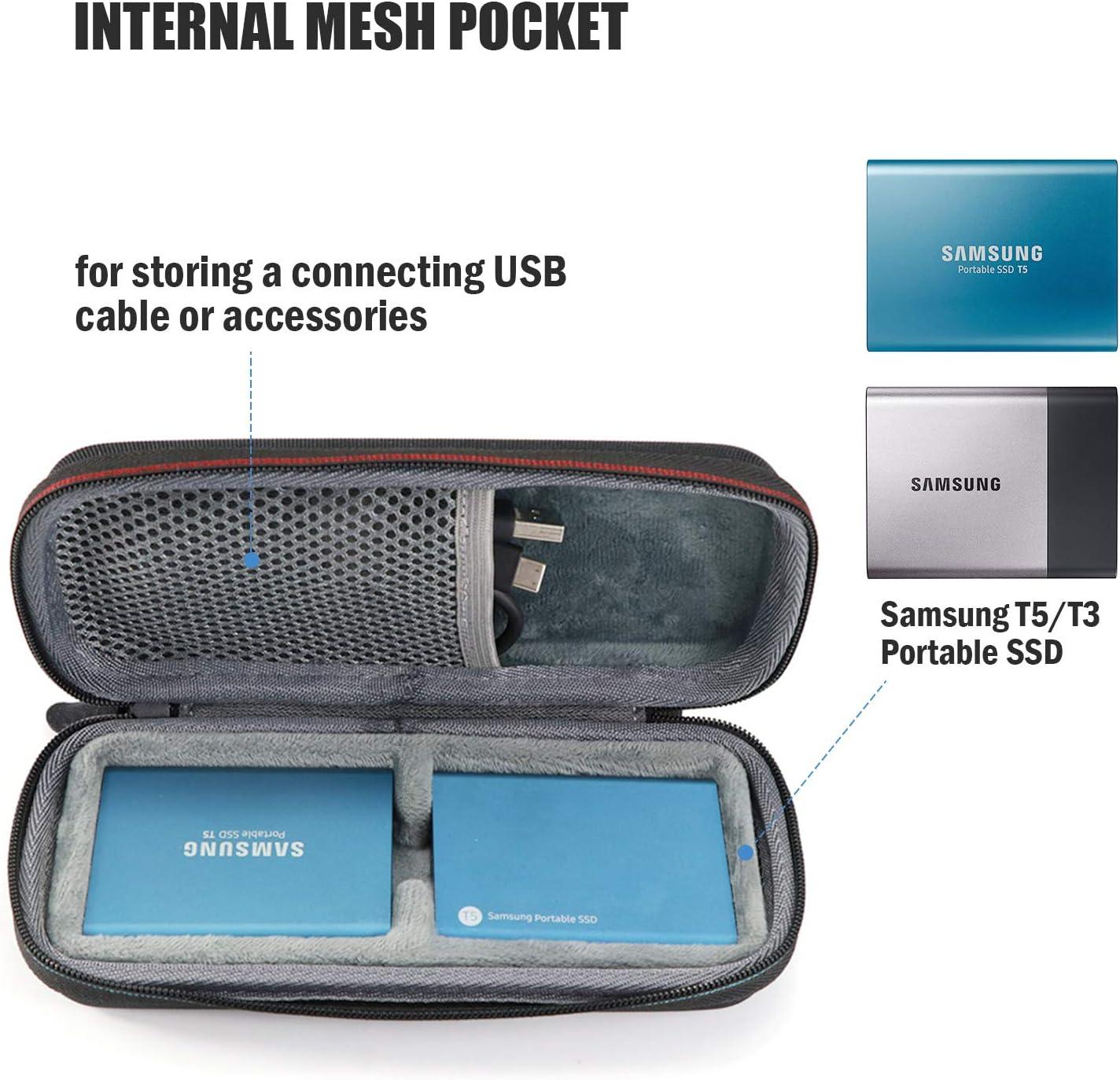 Portable External Solid State Drive 250GB 500GB 1TB 2TB Hard Shockproof Borse da Viaggio di Stoccaggio di VIVENS per Samsung T3//T5 Disco SSD portat/íl USB 3.1, 3.0 y 2.0