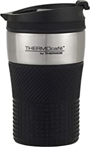 THERMOcafe by Thermos Vacuum Insulated Stainless Steel Travel Cup, 200ml, Black, HV200BK6AUS