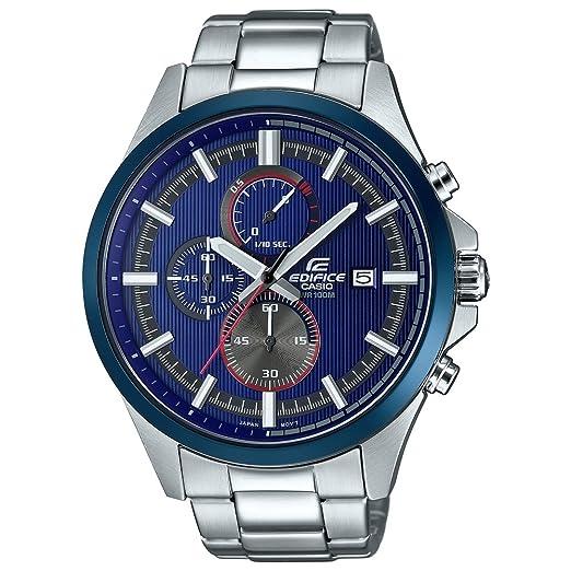 b77fa3bd97e0 Casio Reloj Análogo clásico para Hombre de Cuarzo con Correa en Acero  Inoxidable EFV-520RR-2AVUEF  Amazon.es  Relojes