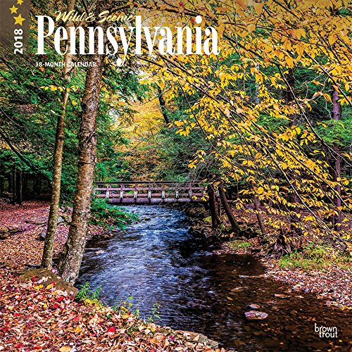 Pennsylvania, Wild & Scenic 2018 12 x 12 Inch Monthly Square Wall Calendar, USA United States of America Northeast State Nature