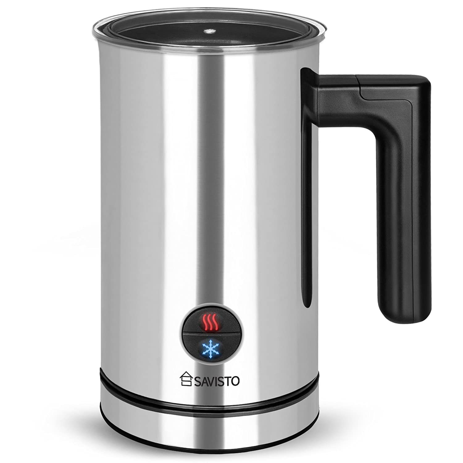 Savisto Electric Milk Frother Combined Milk Steamer Milk Heater Milk Frothing Jug Non Stick Foamer With Fill Level Indicator Ideal For Coffee