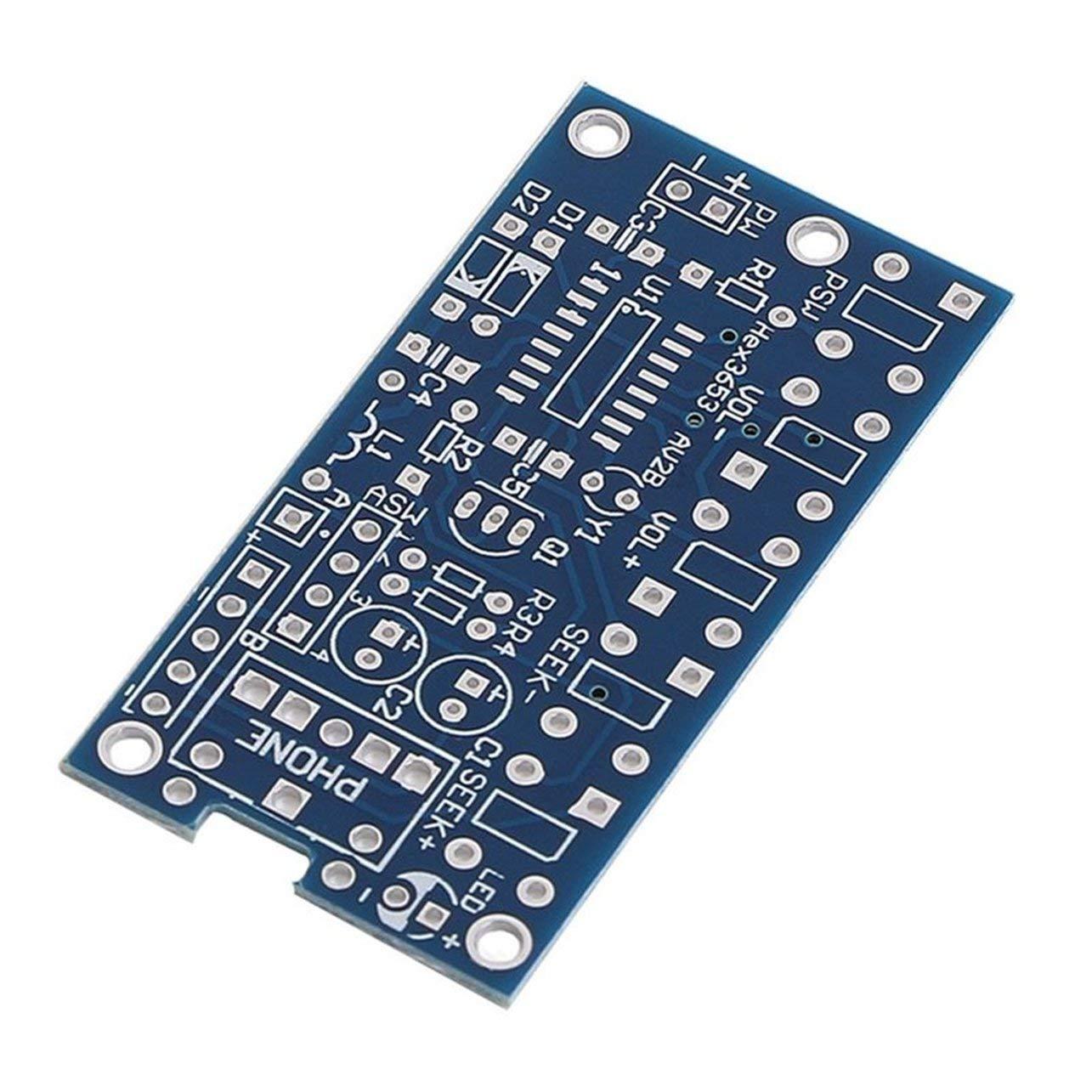 WOSOSYEYO Wireless Stereo FM Radio Receptor M/ódulo PCB Bricolaje electr/ónica Kits de 76MHz-108MHz Materiales ecol/ógicos