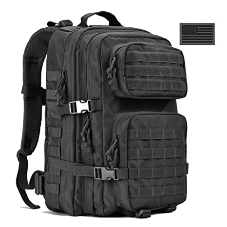 REEBOW GEAR Military Tactical Backpack, Large Army 3 Day Assault Pack Molle  Bug Out Bag db244e73c3