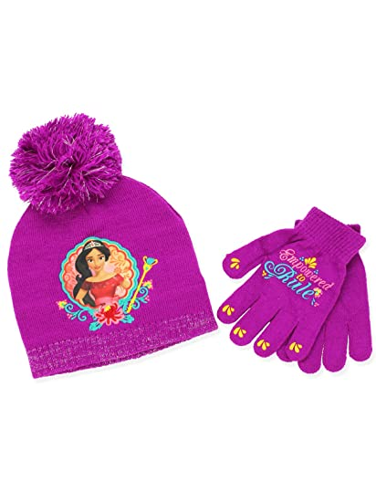 new style fa1d1 83473 Princess Elena of Avalor Girls Beanie Hat and Gloves Set (Little Kid Big Kid