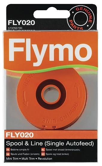 Flymo FLY020 - Carrete de hilo sencillo para cortacésped ...