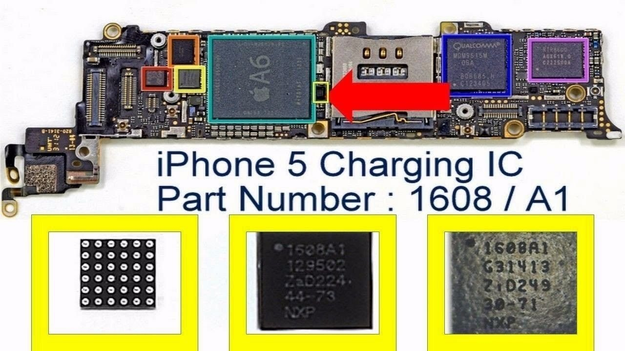Amazon.com: New OEM iPhone 5 Component USB Charging Chip U2 IC 1608/1608A1  for Motherboard PCB Repair: Cell Phones & Accessories