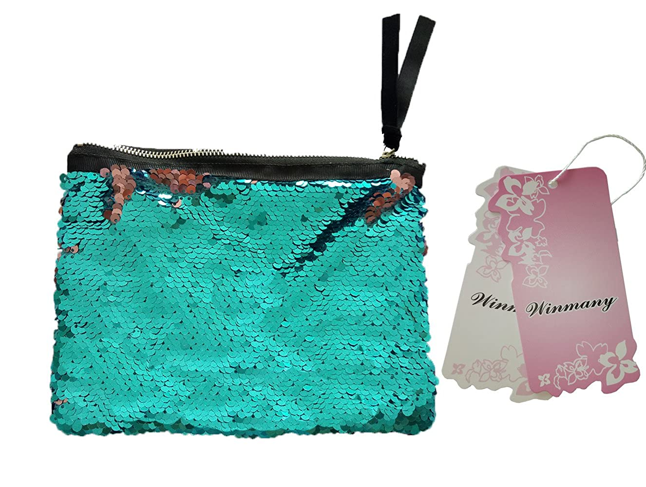 Pochette /à maquillage Winmany /à sequins r/éversibles brillants