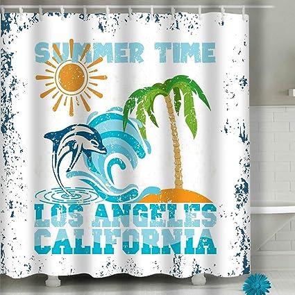 Amazon com: zexuandiy Print Polyester Fabric Shower Curtain
