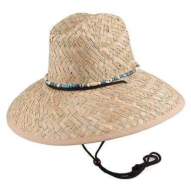 342eb69357ae6 Dorfman Pacific Hats Lifeguard Rush Straw Sun Hat - Khaki 1-Size   Amazon.co.uk  Clothing