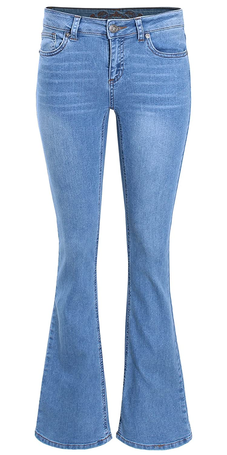 4d957952dda LCPA005: Mid Rise Bootcut Denim Jeans This boot cut jeans feature mid rise  waist, classic five pocket styling, belt loops, and zip fly closure. Straight  fit ...