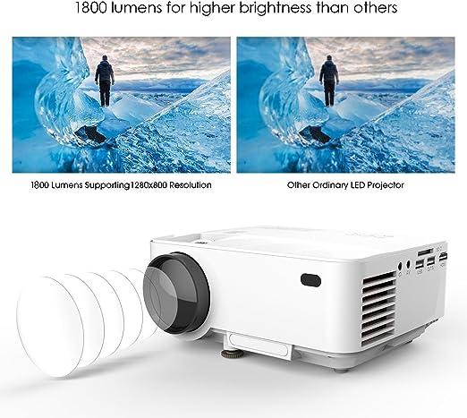 Proyector, Actualizado DBPOWER T21 Mini Proyector LCD de ...