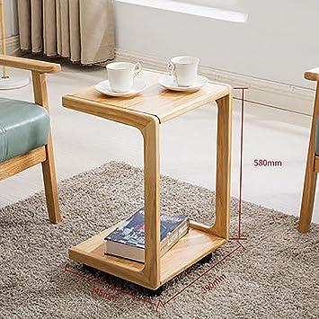 D L Bois Massif Impermeable Table D Appoint Vintage Avec Roues