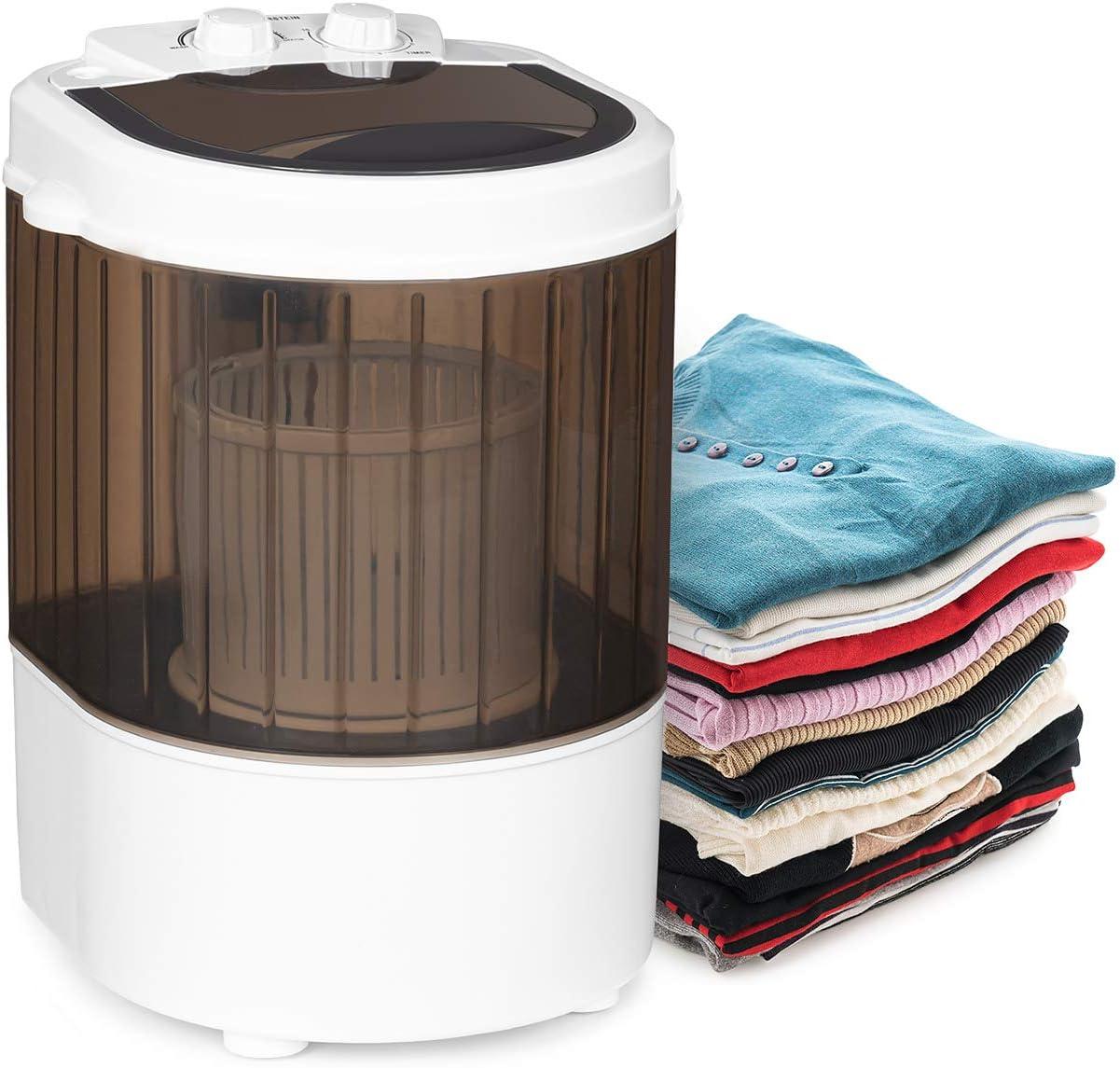 KLARSTEIN Dash Duo Lavadora de Camping - Capacidad Lavado 2,5 Kg, función Limpieza de Zapatos, Potencia 180W, compacta, Gran Rendimiento, Ideal para Camping o Viajes, Negro