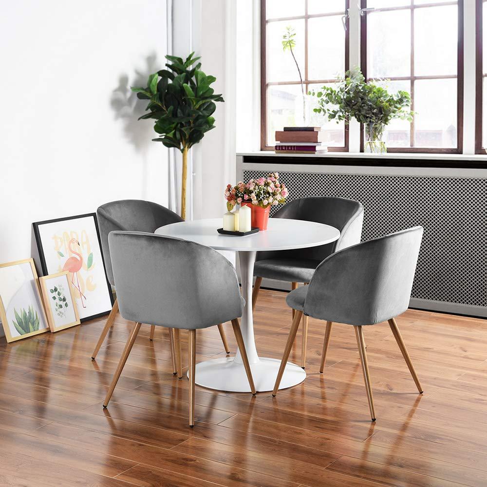 Amazon.com: HomyCasa - Silla de salón (2 unidades, tejido de ...