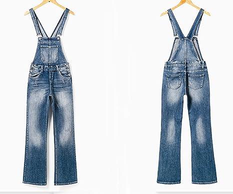 ac2c6c78352 Amazon.com  GALMINT Women s Juniors Casual Summer Pockets Denim Bib Overall  Jumpsuits Long Pants  Clothing