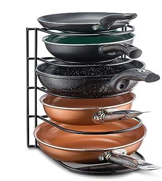 Cacerola organizador rack – Armario de cocina para ollas, sartenes y tapas – con capacidad