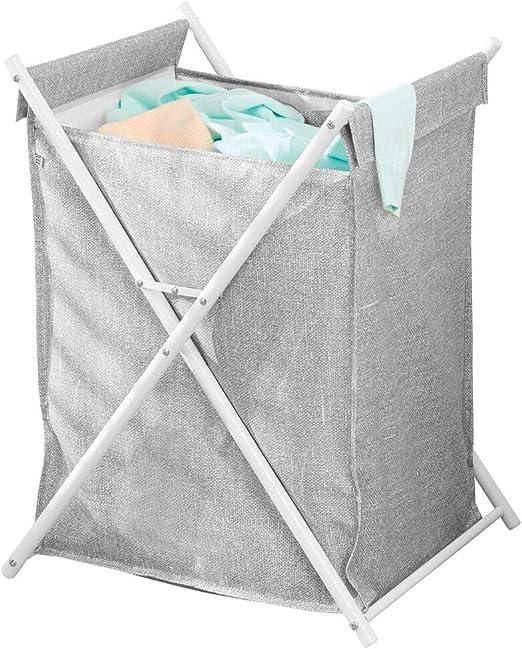 mDesign Cesta para la colada – Cubo para ropa sucia portátil con ...