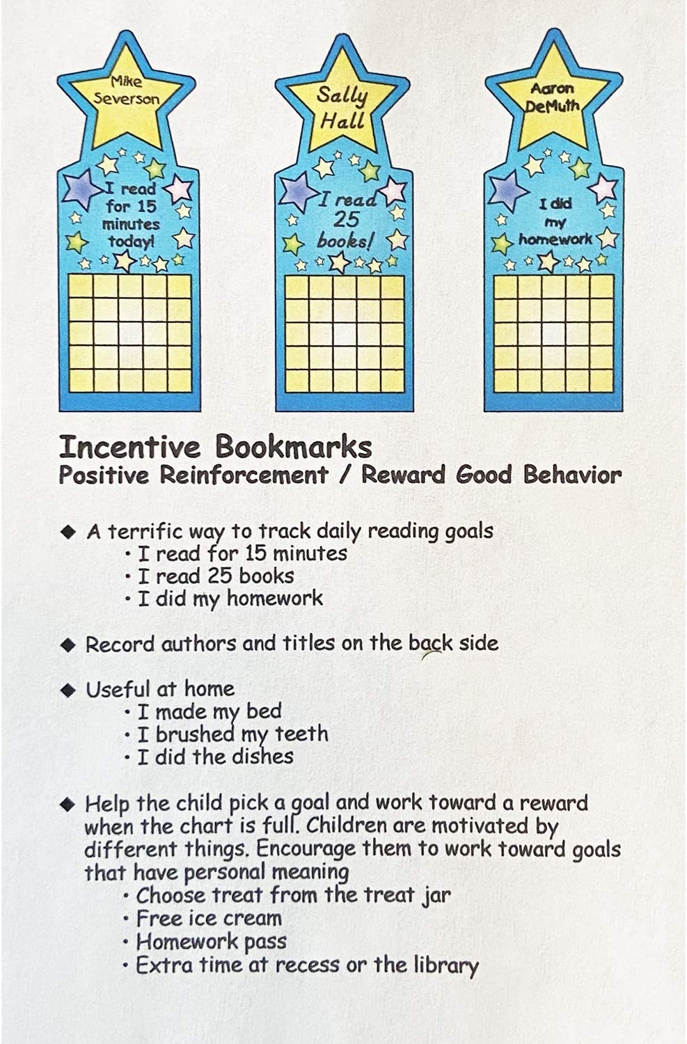 Star Personal Incentive Chart