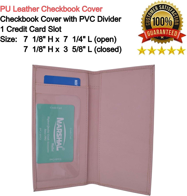 Basic PU Leather Blue Checkbook Covers