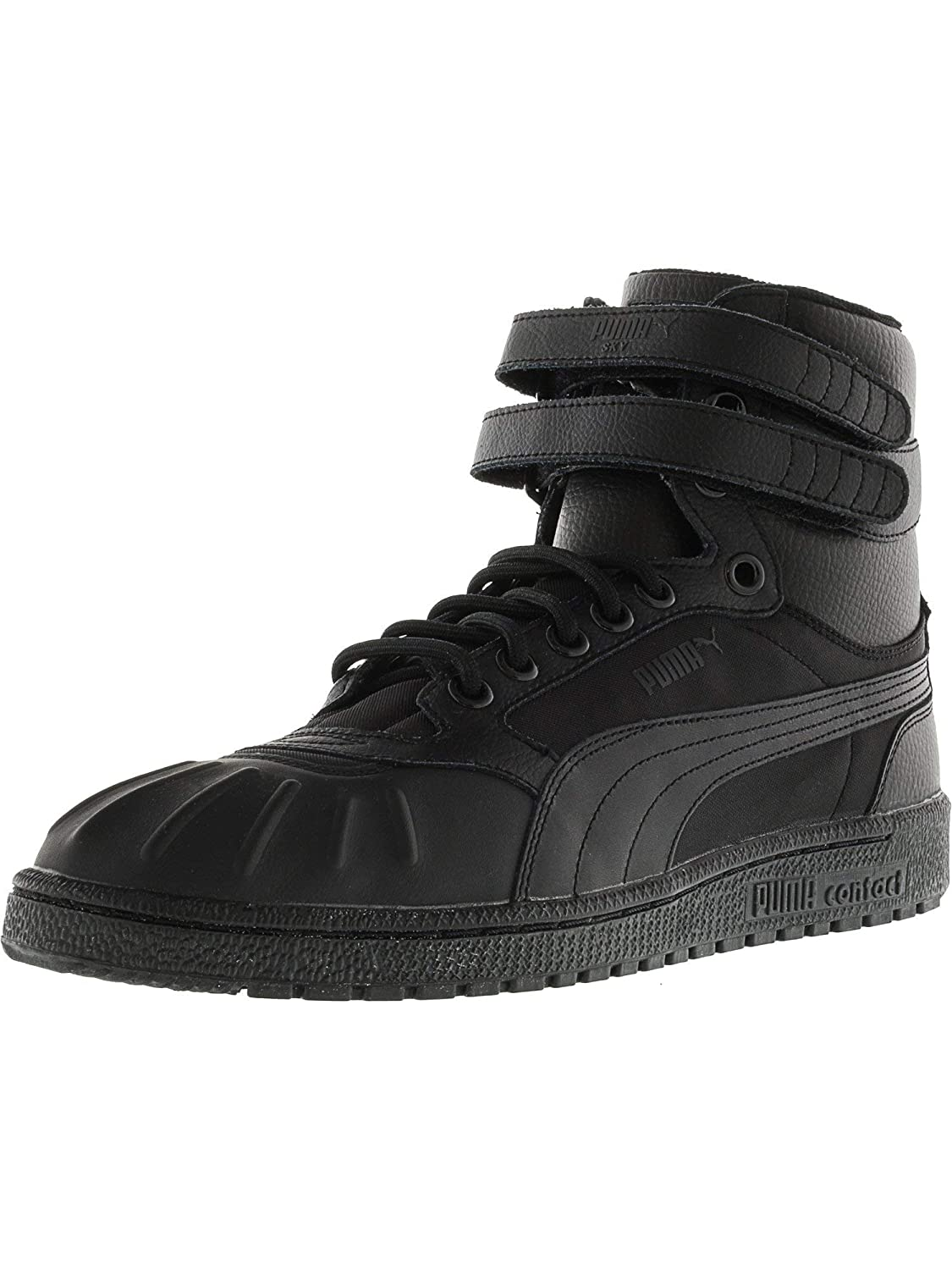 Details about Puma Sky Ii Hi Duck Winter Mens Black Brown Leather High Sneakers Shoes Size 11