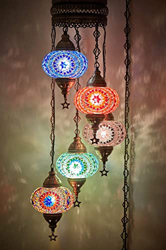 Choose from 12 Designs Turkish Moroccan Mosaic Glass Chandelier Lights Hanging Ceiling Lamps XLarge-2