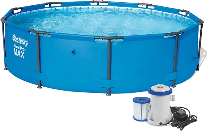 Set 3en 1Steel Pro Frame Pool 305x 76cm Con bomba de filtro 1249l/hora Bestway 56406