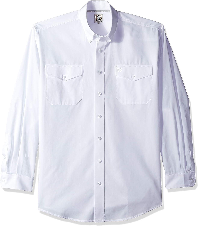 Cinch Men's Classic Fit Long Sleeve Double Button Pocket