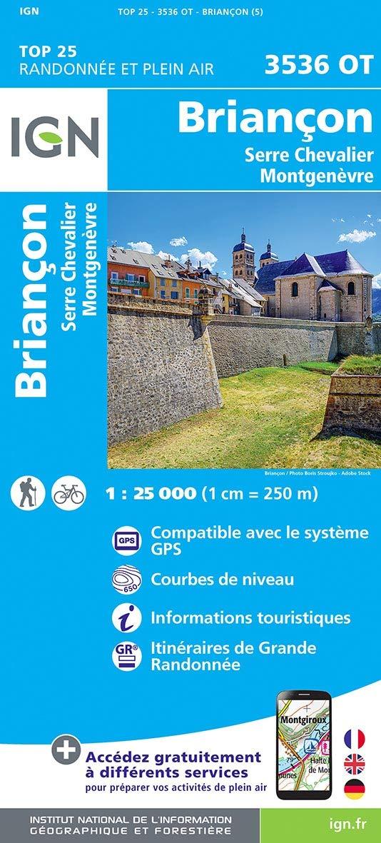 IGN Briancon/Serre-Chevalier/Montgenevre - Carte topographique