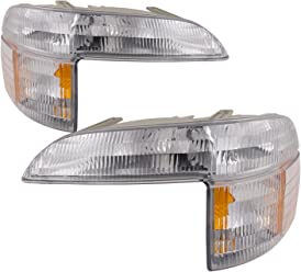 HEADLIGHTSDEPOT Chrome Housing Signal Light Compatible with Acura Integra 1998-2001 Includes Left Driver and Right Passenger Side Signal Lights