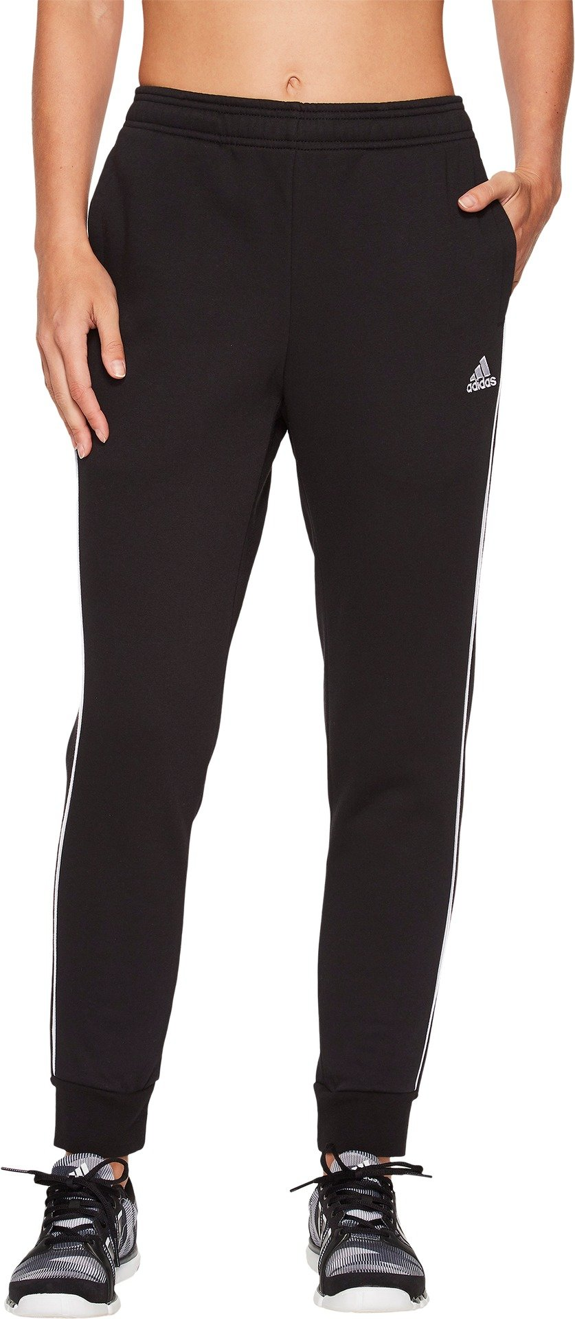 adidas Women's Core18 Sweat Pants, Black/White, X-Small