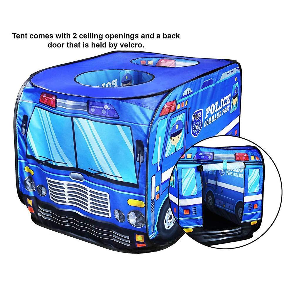 Juegos de imitación Applyvt Niños Pop Up Play Carpa de Juguete Casa Plegable del autobús de la casa del Juego del Coche de policía del camión de Bomberos del paño Tiendas de campaña